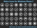 Metro Icons for Windows Phone 7 2011.1