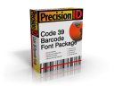 PrecisionID Code 39 Barcode Font Package
