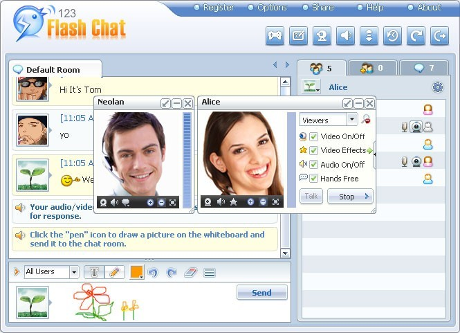 123 Flash Chat Software(Linux) Download