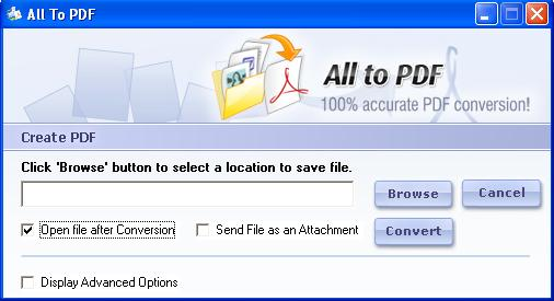 123FileConvert All To PDF Converter Download