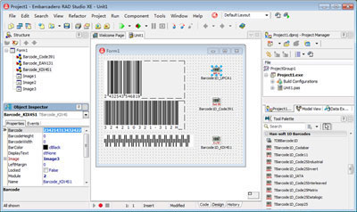 1D Barcode VCL Components Download