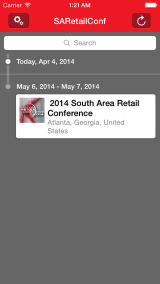 2014 South Area Retail Conference Event App Download