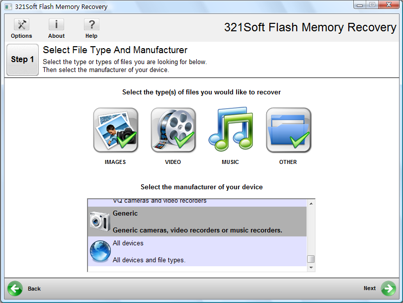 321Soft Flash Memory Recovery Download