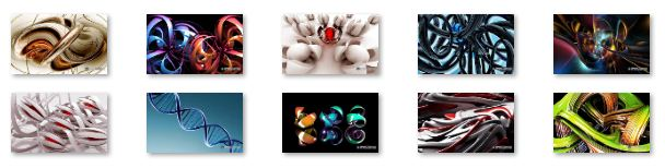 3D Abstract Windows 7 Theme Download