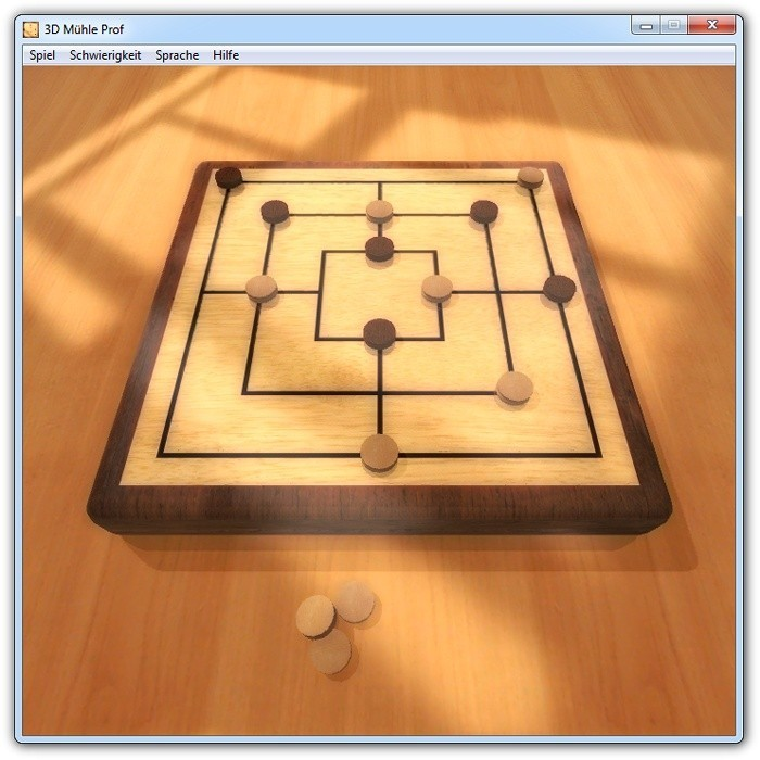 3D Morris Prof simulates the famous board game Nine Men's Morris on your PC, ...