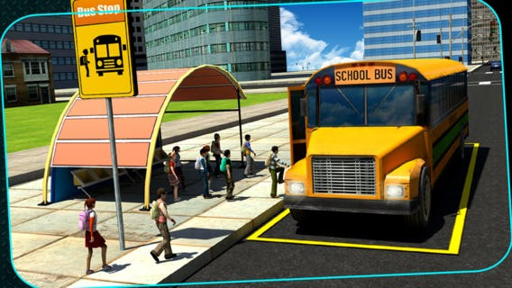 3D School Bus Driving Simulator : Kids Pick & Drop Game Download