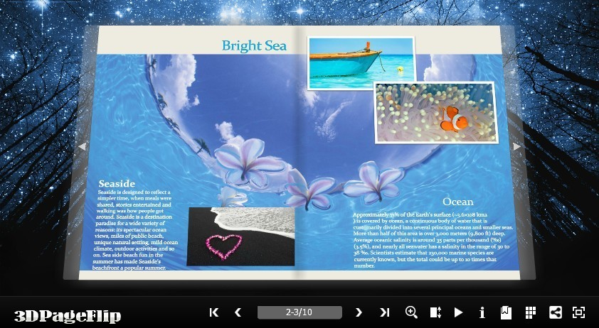 3DPageFlip Flash Catalog Templates for Nature Download