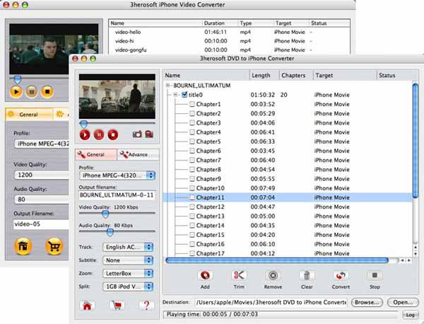 3herosoft DVD to iPhone Suite for Mac Download