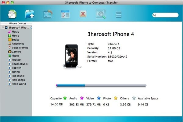 3herosoft iPhone to Computer Transfer for Mac Download