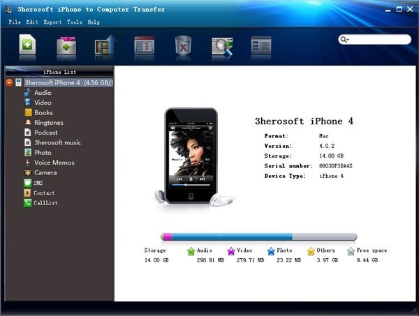 3herosoft iPhone to Computer Transfer Download