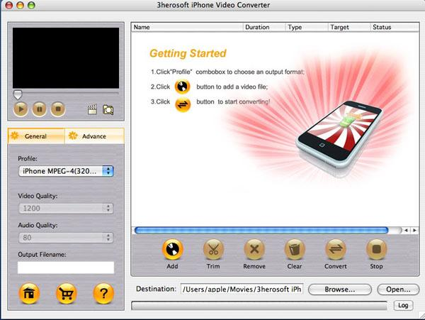 3herosoft iPhone Video Converter for Mac Download