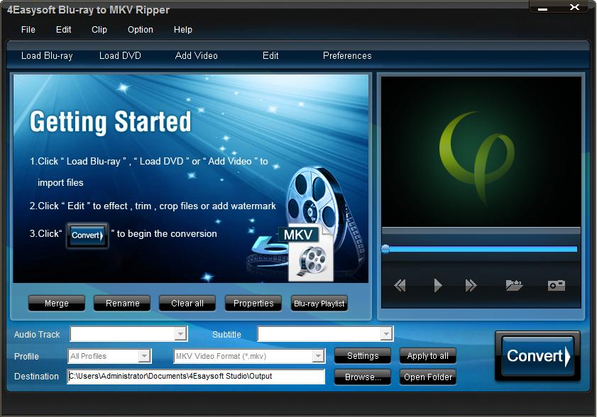 4Easysoft Blu-ray to MKV Ripper Download