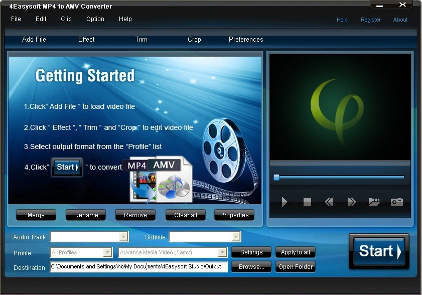4Easysoft MP4 to AMV Converter Download