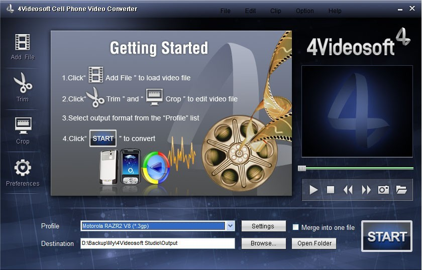 4Videosoft Cell Phone Video Converter Download