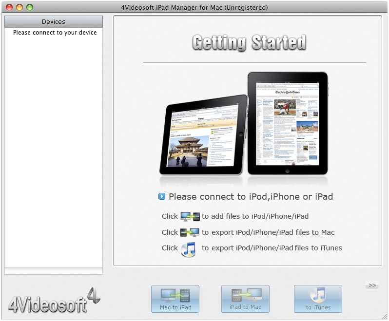 4Videosoft iPad Manager pour Mac Download