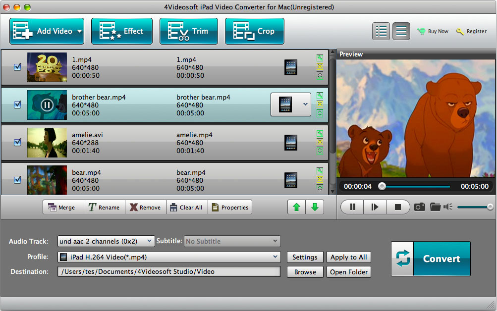 4Videosoft iPad Video Converter for Mac Download