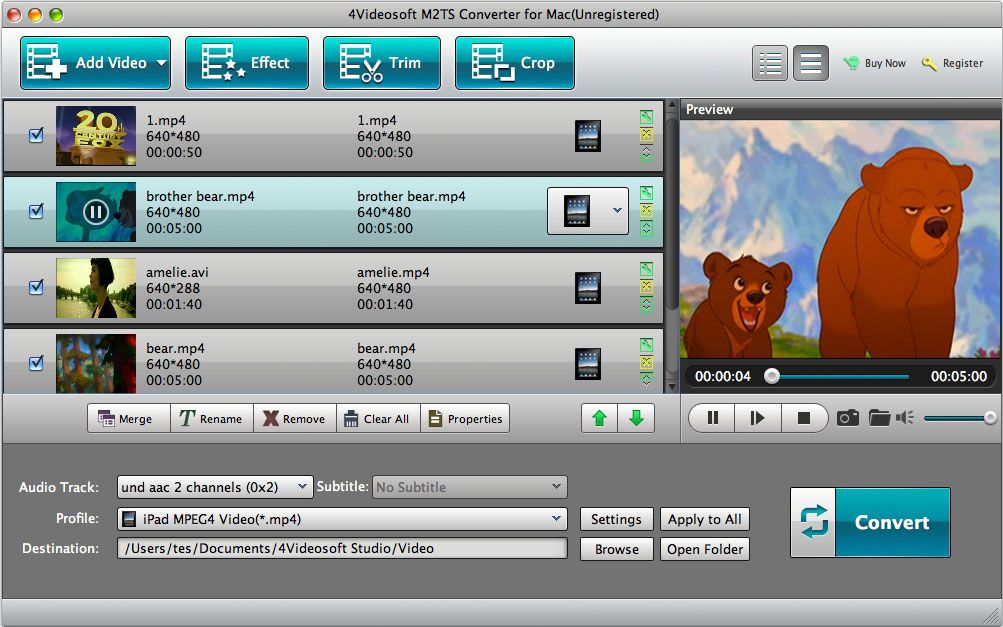 4Videosoft M2TS Converter for Mac Download