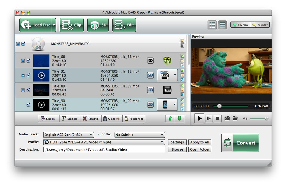 4Videosoft Mac DVD Ripper Platinum Download