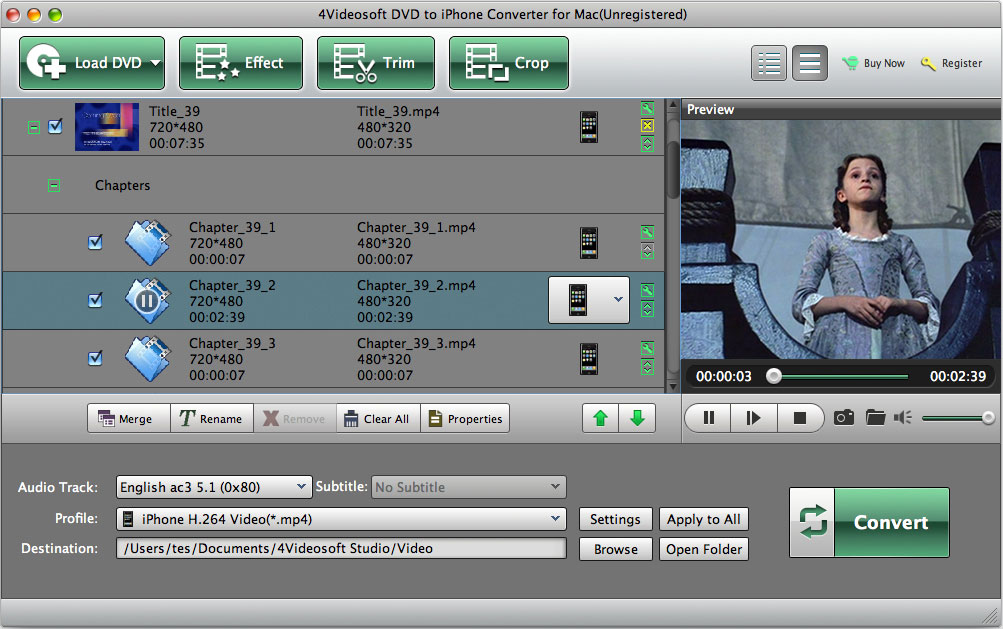 4Videosoft Mac DVD to iPhone Converter Download