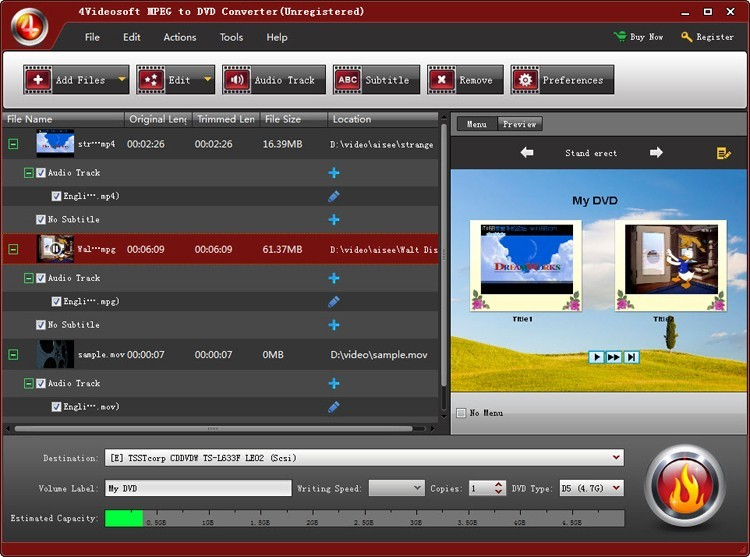 4Videosoft MPEG to DVD Converter Download