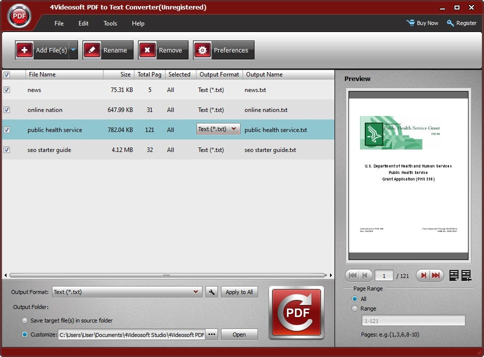 4videosoft pdf to text converter 3.0.12