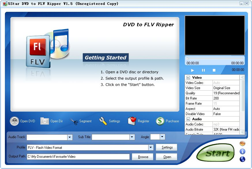 5Star DVD to FLV Ripper Download