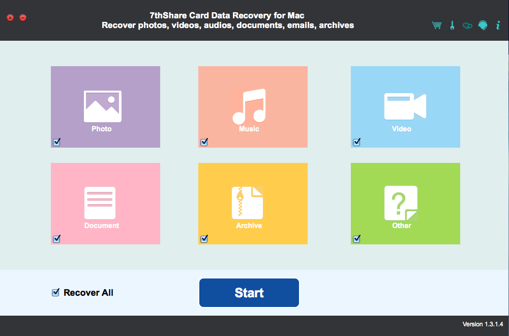 7thShare Card Data Recovery for Mac Download
