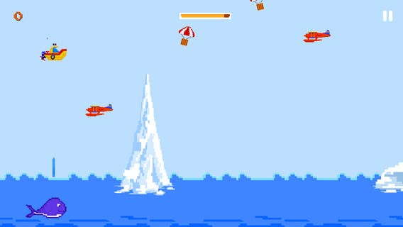 8 Bit Boat - A Tiny Flying Adventure with the Flappy Whale Download