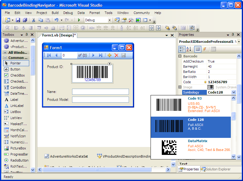 .NET Barcode Professional Download