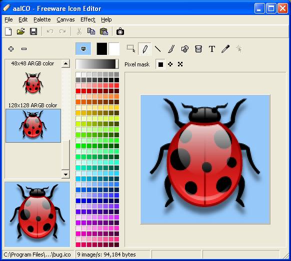 aaICO - Freeware Icon Editor Download