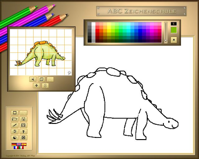 ABC Drawing School III - Dinosaurs Download