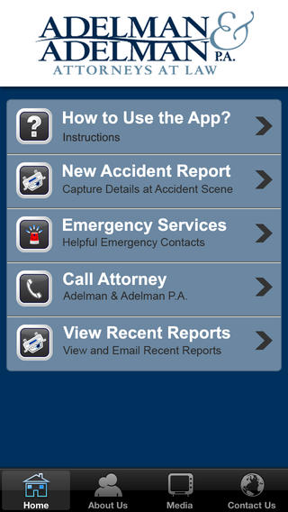 Accident App by Adelman & Adelman, PA. Download