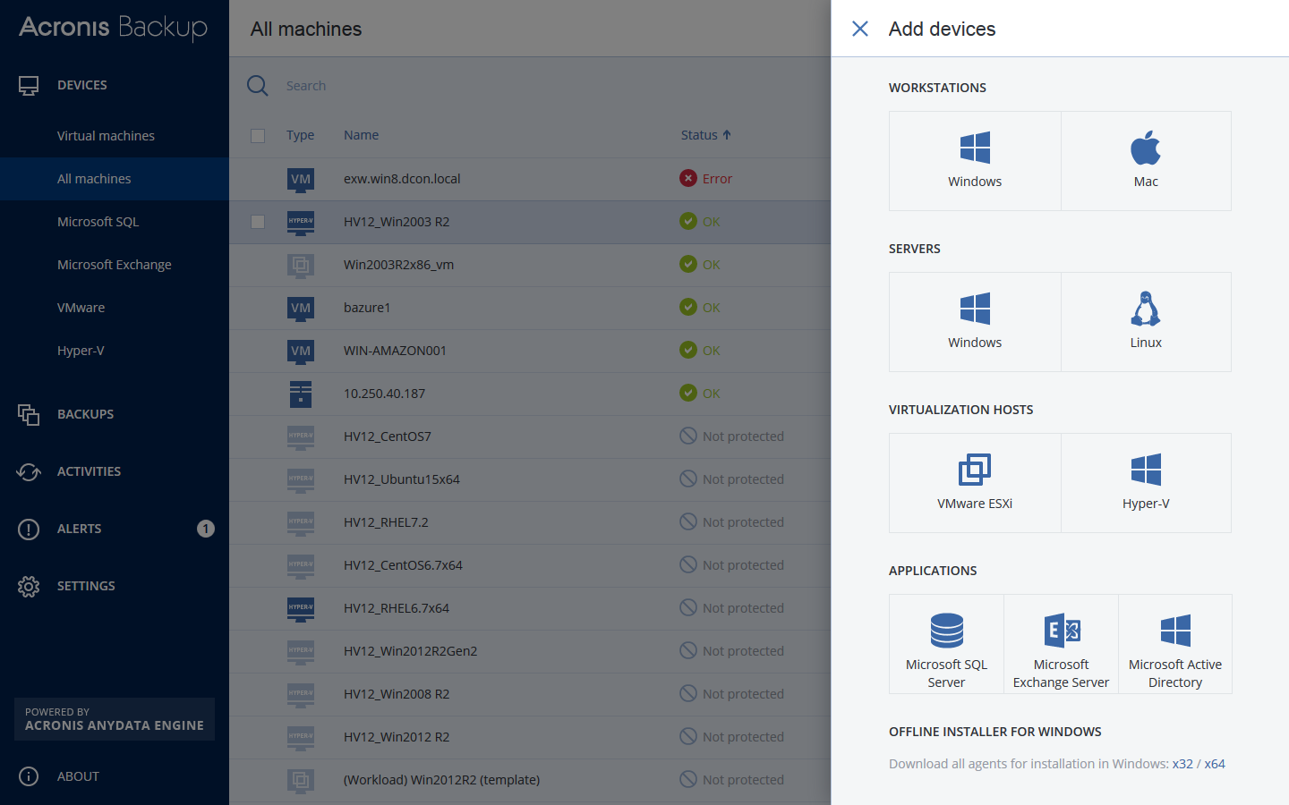 Acronis Backup for Virtual Host Download