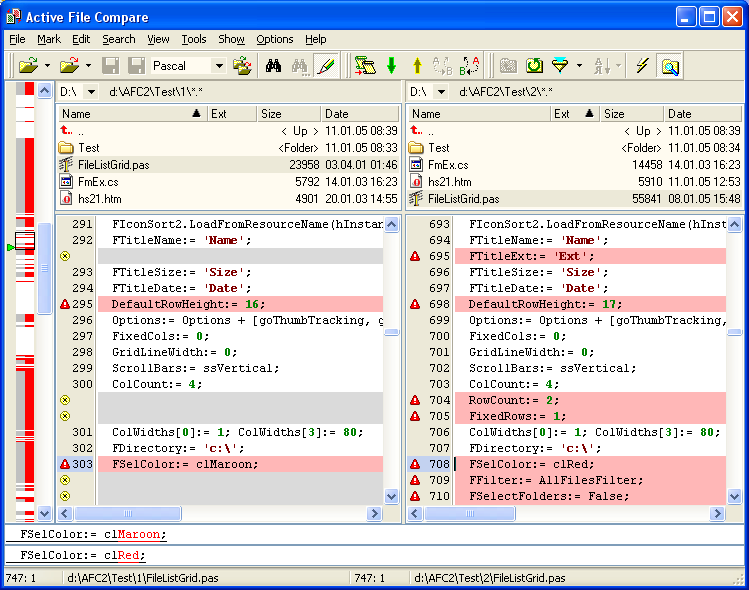 Active file compare is an advanced utility for the comparison and