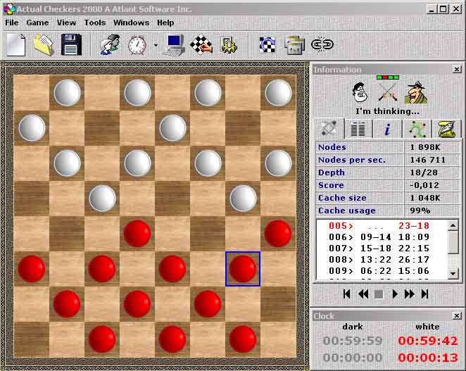 play checkers against computer hard