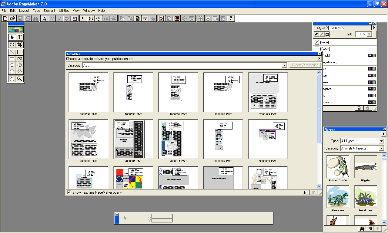Screenshot, Review, Downloads of Shareware Adobe PageMaker ...