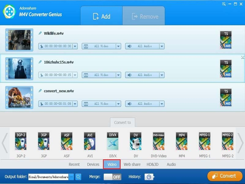 Adoreshare M4V Converter Genius Download