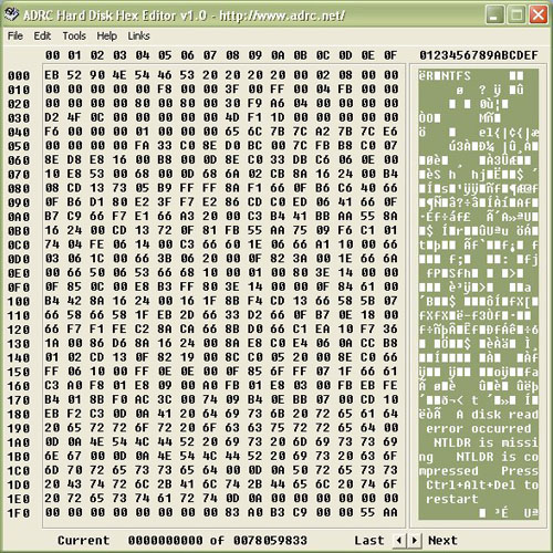 ADRC Hard Disk Hex Editor Download