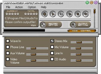 Advanced MP3/WMA Recorder Download