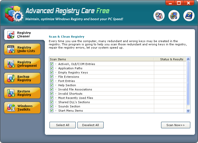 Advanced Registry Care Free Download