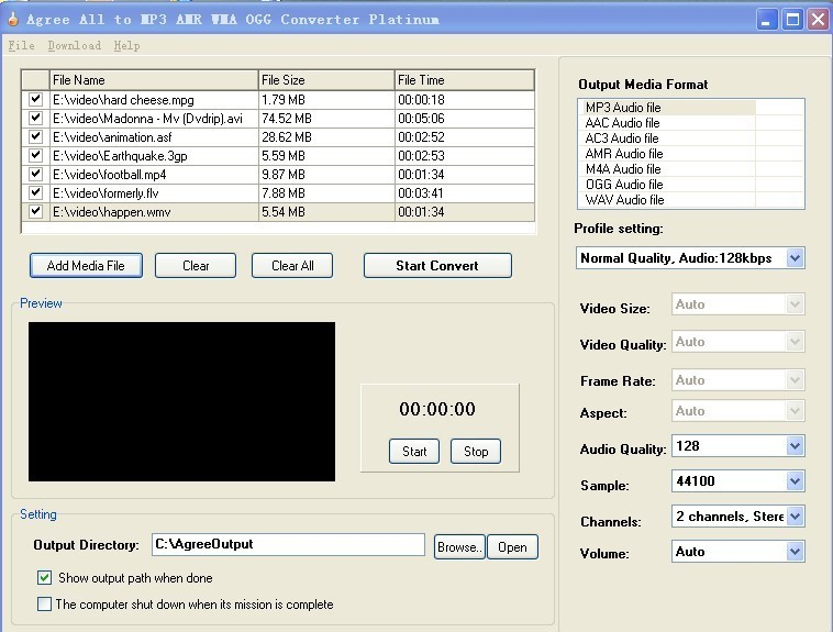 Agree All to MP3 AMR WMA OGG Converter Download