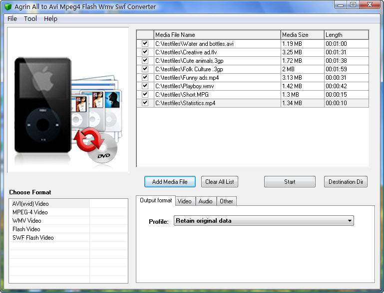 Agrin All to Avi Mp4 Flash Swf Converter Download