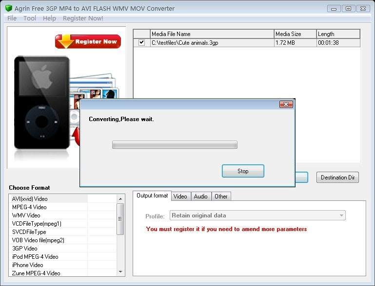 Agrin Free 3GP MP4 to AVI WMV Converter Download