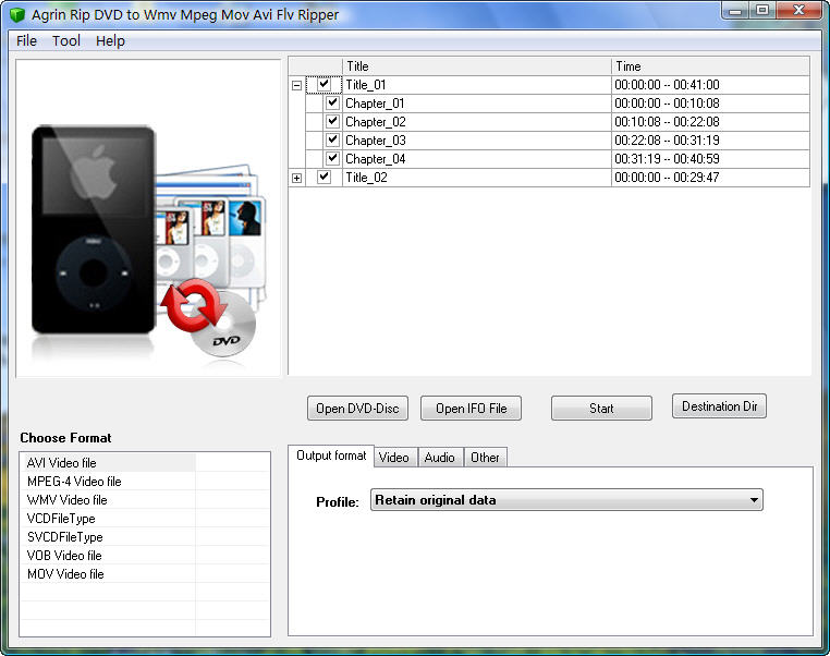 Agrin Rip DVD to Wmv Mpeg Mov Avi Ripper Download