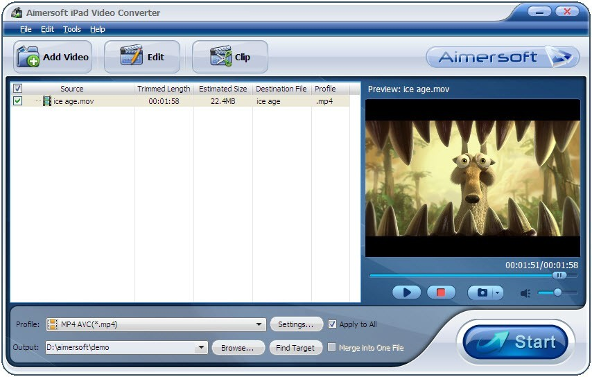 Aimersoft iPad Video Converter Download