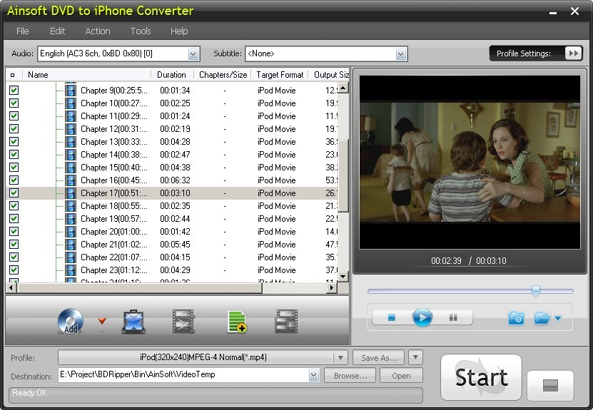 Ainsoft DVD to iPhone Converter Download