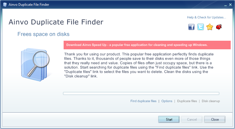 Ainvo Duplicate File Finder Download