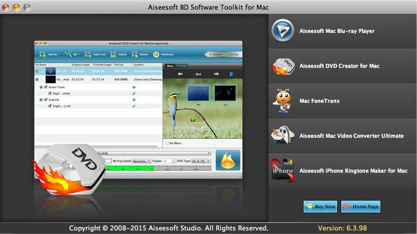 Aiseesoft BD Software Toolkit for Mac Download