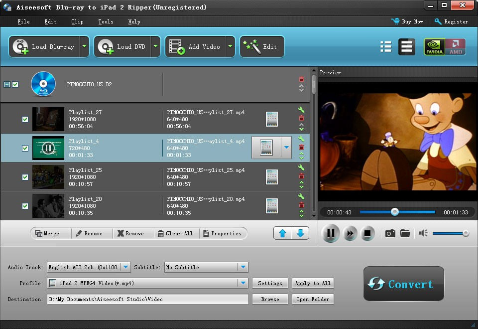 Aiseesoft Blu-ray to iPad 2 Ripper Download