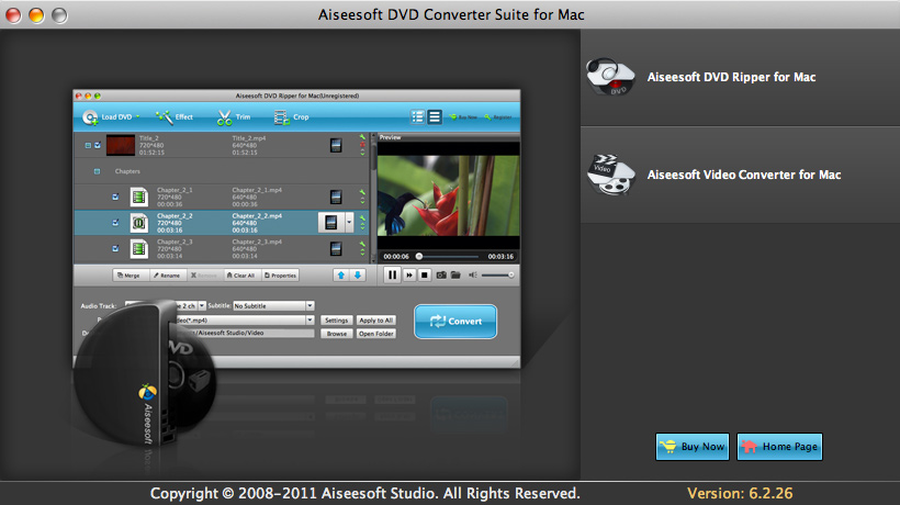 Aiseesoft DVD Converter Suite for Mac Download
